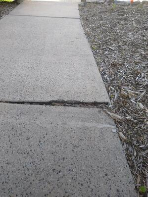 Sidewalk cracking and uneven